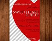 Printable Sweetheart Soiree Valentine's Party Invitation