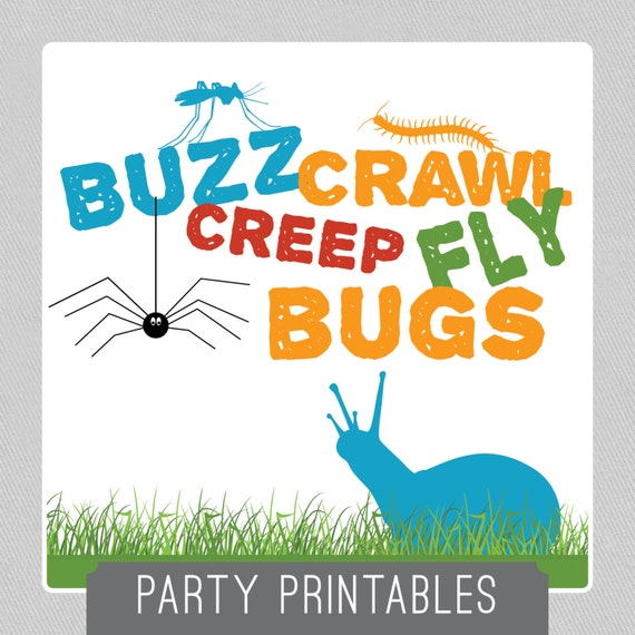Buzz Crawl Creep Fly BUGS Party Package INSTANT