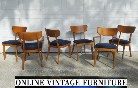 6 Heywood Wakefield 1950s Chairs Vintage Mid Century