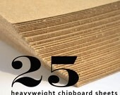 25 Chipboard Sheets: 8.5 x 11 inches, Full Sheet Heavyweight Chipboard, 0.030 Recycled Heavy Eco Friendly Thick Kraft Chipboard, Brown