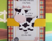 Farm Birthday Invitation | Farm Party Invitation | Old Macdonald Birthday Invitation | Barnyard Birthday Invitation | Barnyard Invitation
