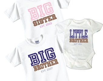 Big Sister Little Brother, Big Brother Shirts and Tshirts Tees