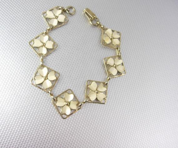 four leaf clover sweetheart bracelet vintage by