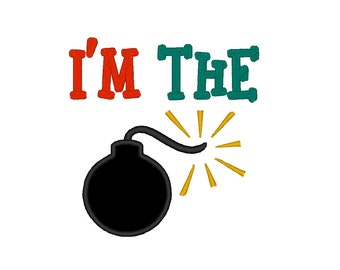 I am is the Bomb Phrase APPLIQUE. Instant Download Machine Embroidery Design Digitized File 4x4 5x7 6x10