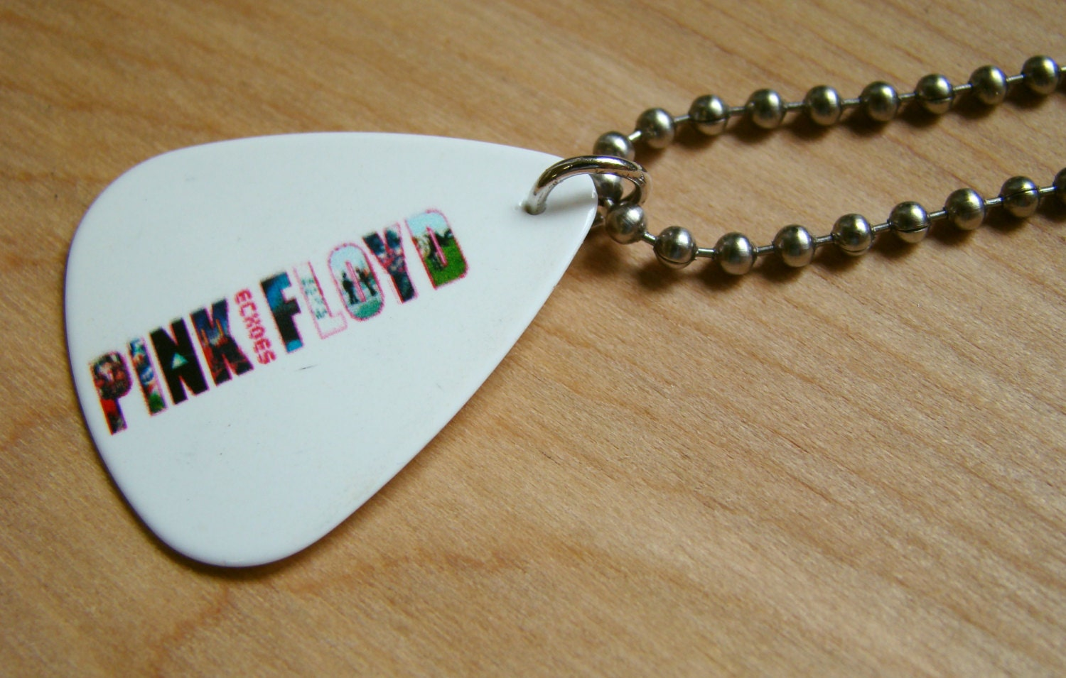 pink floyd guitar pick necklace with by freewheelinstudio on etsy. Black Bedroom Furniture Sets. Home Design Ideas