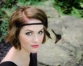 Black Boho Forehead Headband - Solid Collection