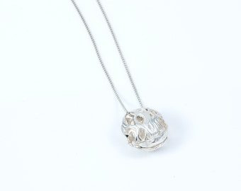 Sterling Silver scoop pendant  from the sabrawear collection  .Gift for her,ready to ship