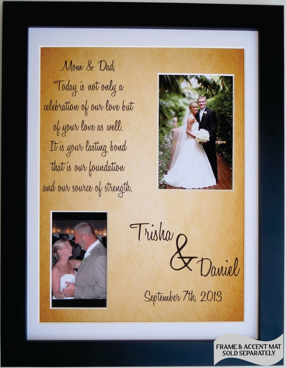 Wedding Gift For Grooms Father : Thank You Wedding Gift for Parents of Bride Groom: Personalized Father ...