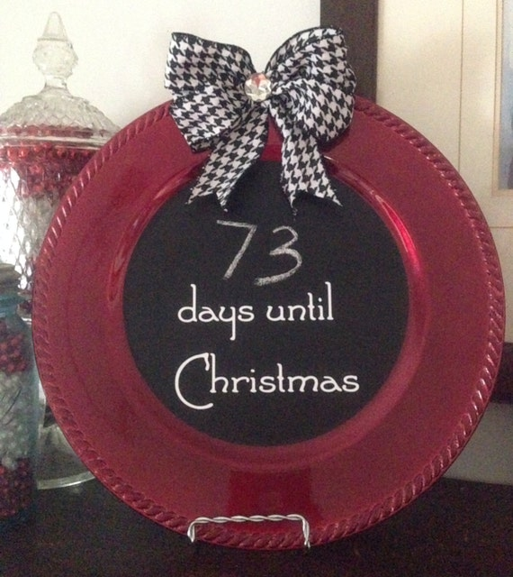 Items Similar To Christmas Countdown Charger Plate On Etsy