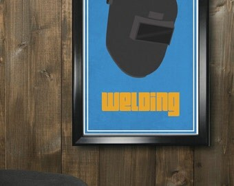 Welding Minimalistic Print - 11x17, Housewarming, Office, Birthday, Christmas Gifts