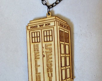 Hello Sexy Tardis Necklace