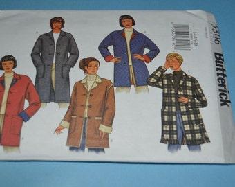 Butterick 3306 Misses - Misses Petite Jacket Sewing Pattern - UNCUT - Sizes 14 16 18
