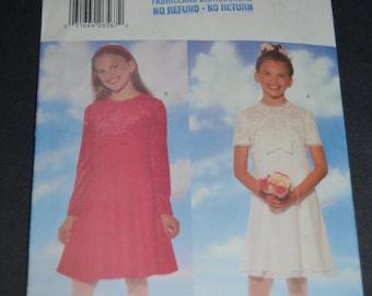 Butterick 5283  Girls Dress Sewing Pattern - UNCUT- Sizes 7 8 10