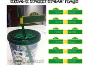 Sesame Street Straw Flags- Customized Digital File