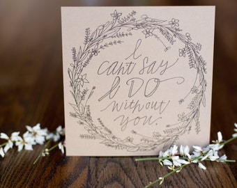 Sweet Wreath; Bridesmaid Card; Will You Be My; Maid of Honor; Flower Girl; Gift; Wedding; Card; Ask; Hand Lettered; Floral; Nature