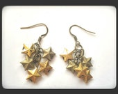 RESERVED LISTING- Star Earrings- Dangle Earring- Gold Stars- Cluster Earrings- Star Jewelry