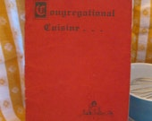 1953 Vintage Congregational Cuisine Cookbook