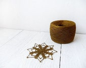 yarn for CHRISTMAS decorations - Linen crochet thread in bronze/gold - YarnStories