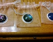 RESERVED for Aerienne-- 3 large round slver necklaces