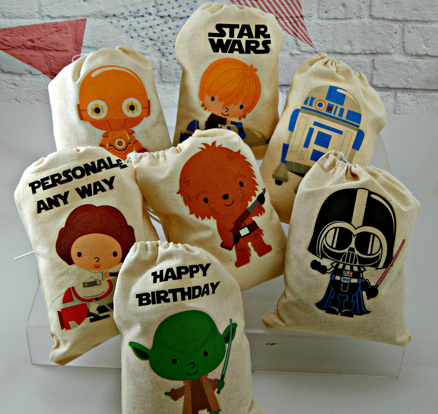 Birthday Favor bags Star wars Great for treats or by ... - photo#3