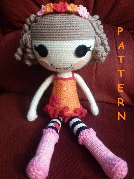 Crochet Wedding Dolls Pattern : LalaLoopsy Type Doll PATTERN