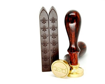 2 Brown Non-Wick Sealing Wax Stick for Wax Seal Stamp