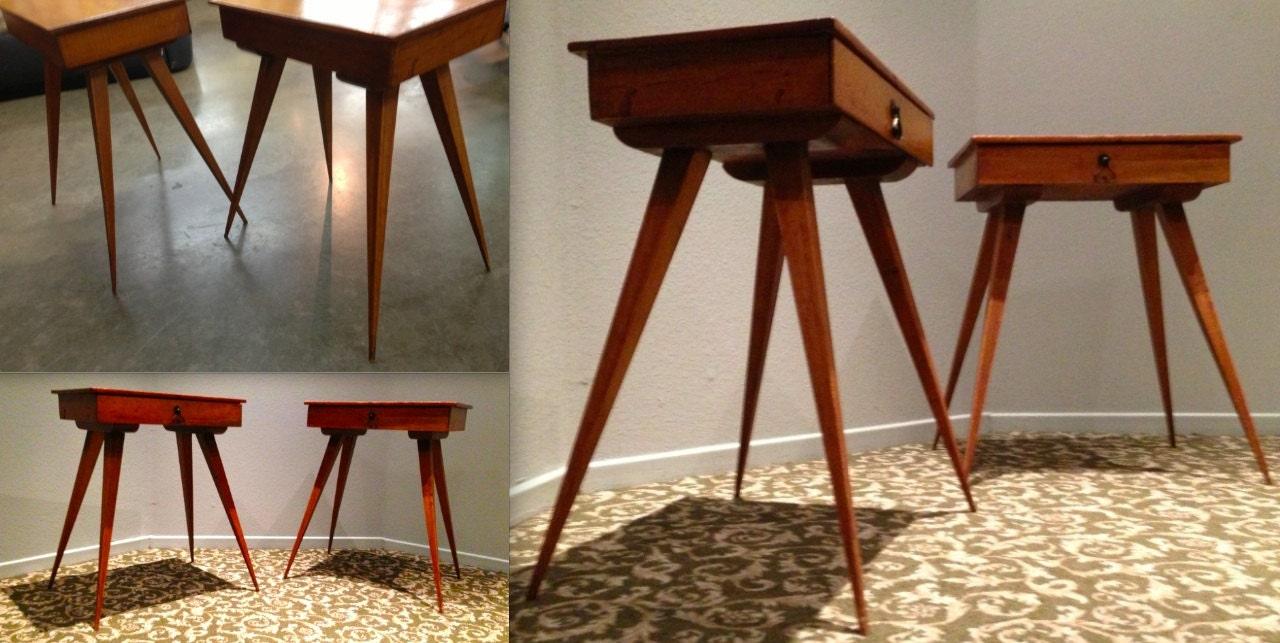 Mid Century Modern Danish Wood Toothpick Leg Scissor