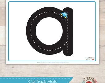 Car Track Alphabet Mats AUTOMATIC DOWNLOAD