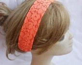 Lace Neon Yoga Headband Turban Wide Hippie Boho Headband Twist Stretchy Hair Bands Chic Yoga Headband Hair Wrap