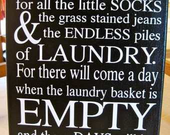 Today I Will Be Thankful for Laundry Canvas