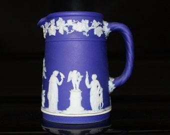 Wedgewood - Jasperware pitcher in cobalt blue
