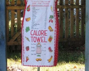 retro apron, kitsch apron, humorous apron, full apron upcycled apron from recycled humorus vintage towel