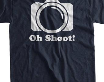 Photography Shirt Digital Film Camera Gifts for Photographers T-Shirt - Oh Shoot Tee Shirt T Shirt Geek Mens Ladies Womens Youth Kids