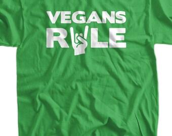 Vegan T-Shirt Veganism T-Shirt Hippie Earth Animal Rights Vegans Rule T-Shirt Tee Shirt T Shirt Mens Ladies Womens Youth Kids