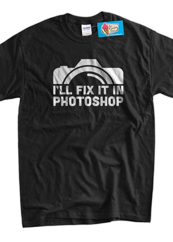 Fun gifts for a photographer: Photoshop tee on Etsy