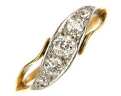 Vintage 18ct Gold 5st Diamond Ring