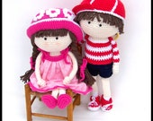 Pattern Crochet Boy and Girl Dolls