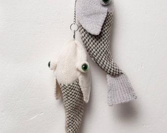fish bag, jacquard, merino, cashmere, chain,