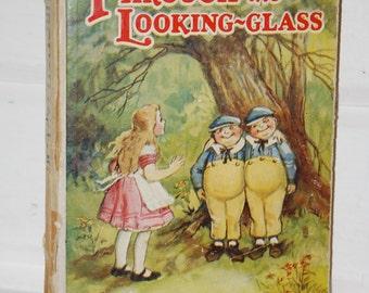 Vintage Children's Book, Through the Looking Glass. Alice in Wonderland