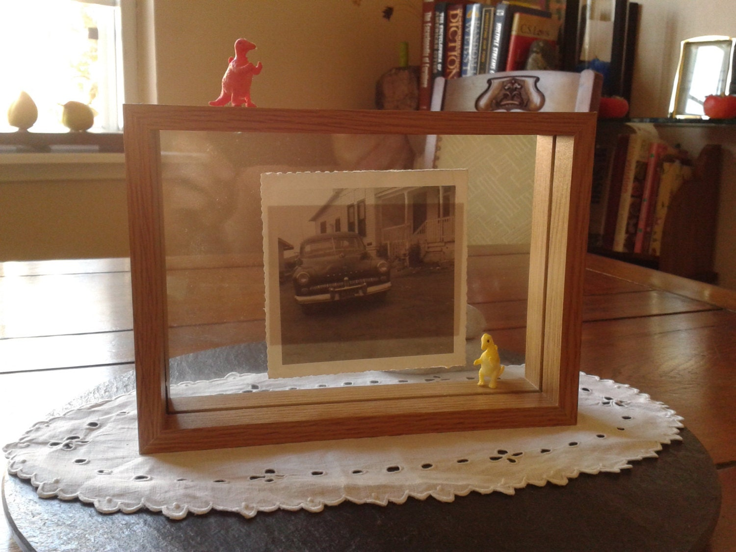 Simple Photo Picture Wood Reversible Float Frame Collage Art