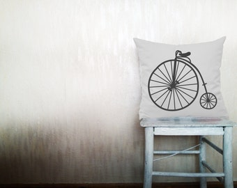 Bicycle pillows decorative throw pillows vintage bicycle pillows bicycle throw pillows pillows urban pillows 24x24 inches pillows