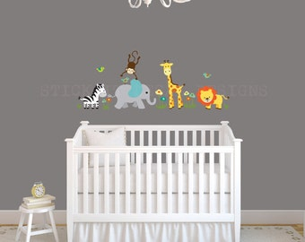 Nursery Decal Jungle Wall Decals Nursery Wall Decal - Nursery wall decals jungle
