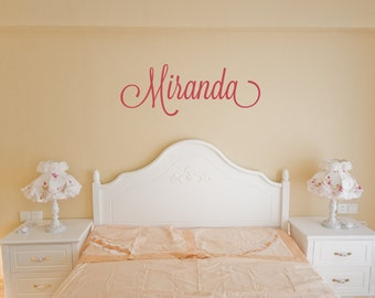 Personalized Name Decal - Monogram Wall Decal - Children Wall Decal - Girls Room Decal - Girls Monograms