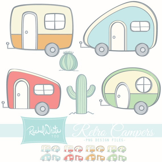 Awesome Vintage Rv Clip Art Clipart Channel