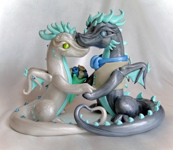 Make Your Own Wedding Topper: Custom Bride And Groom Dragon Couple By MidnightReflections