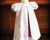 Orchid Purple Cherry Blossom Swing Dress by Steady As She Goes toddler girl 18 24 mo 2T 3T lavender pastel pink eyelet lace Shirley Temple