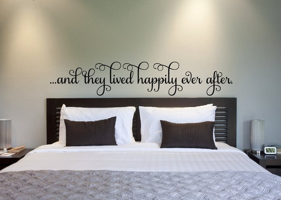 Bedroom wall decal and they lived happily ever after vinyl - Stickers muraux chambre adulte ...