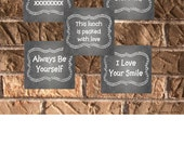 Chalkboard Lunchbox Notes INSTANT DOWNLOAD Printable 2 Sheets