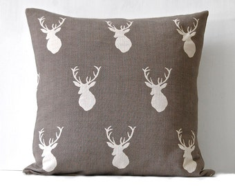 White Tail Stag Pillow