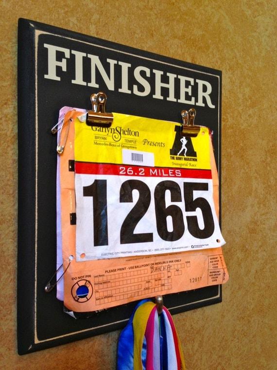 Race Medal And Bib Display Race Bib Holder And Medal